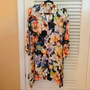 CUPIO | floral long sleeve tunic dress NWT